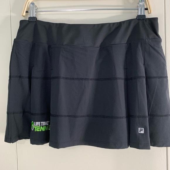 Fila Pants - Fila L pleated tennis skort black Lifetime logo